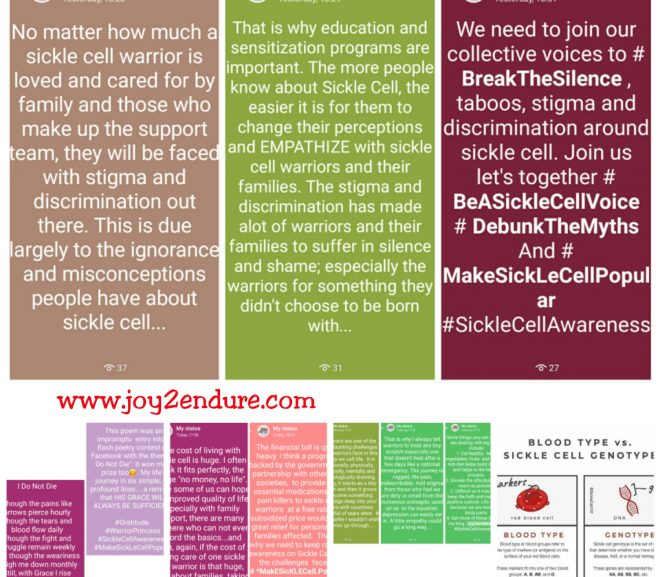 Here is How I Did My Sickle Cell Awareness Drive During September